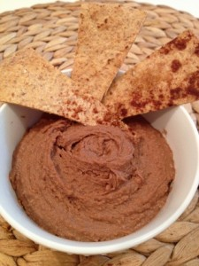 Healthy Sweet Dip with Cinna-Chips