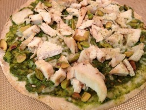 Green Super-Food Pesto Pizza
