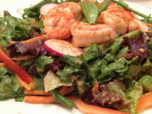Miso-Marinade Shrimp Salad