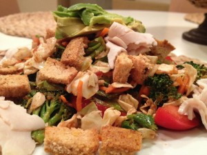 Easy Dressing with Paleo Bread Croutons