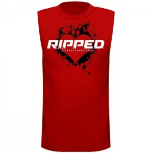 I love RIPPED Mens Shooter - Red-Front-700x700