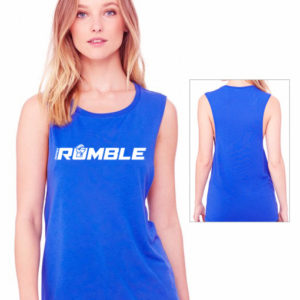rumble muscle tank - blue