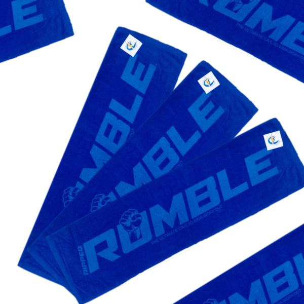 RUMBLE. Tone-on-Tone Sport Towel 12″ x 42″