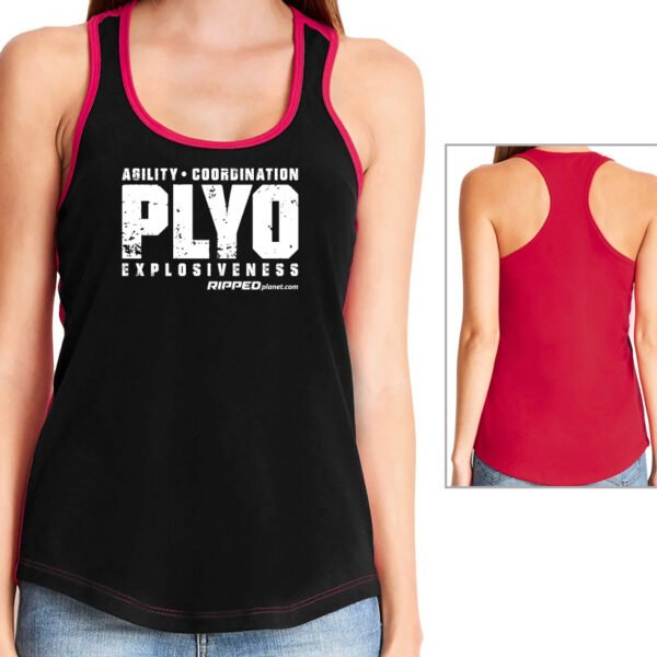 PLYO-ACE Ladies Relaxed Fit Colorblock Tank