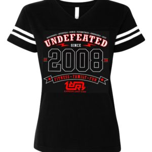 UNDEFEATED Ladies Football V-neck Tshirt